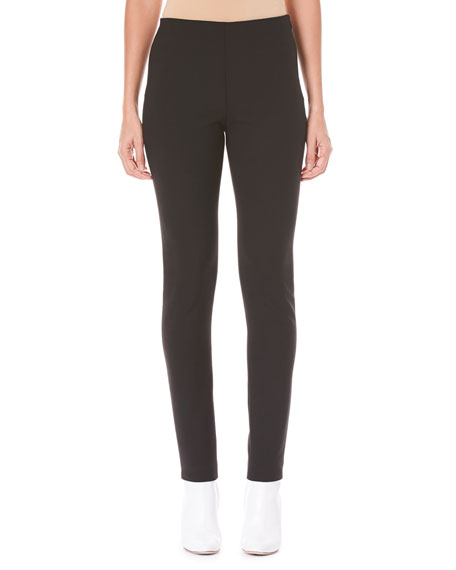 Carolina Herrera Side-Zip Skinny-Leg Wool-Blend Pants