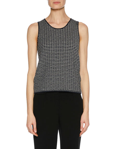 Scoop-Neck Sleeveless Wool Knit Shell