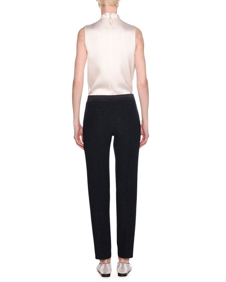 Lurex® Double Face Wool Pants