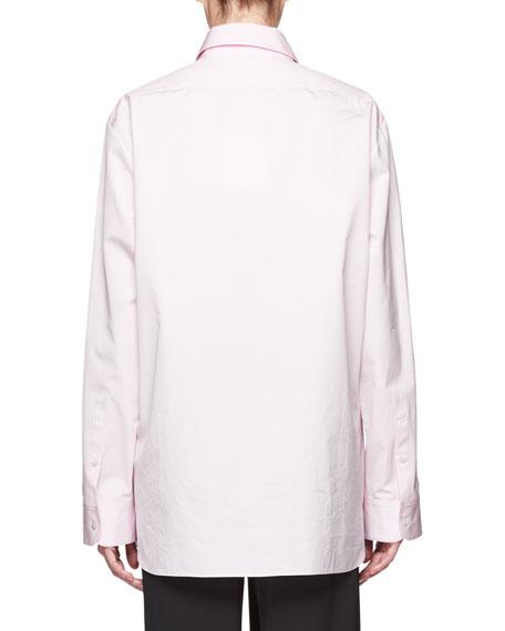 Big Sisea Button-Front Long-Sleeve Cotton Oxford Shirt