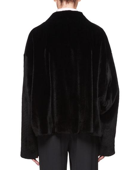 Moona Open-Front Mink Fur Jacket