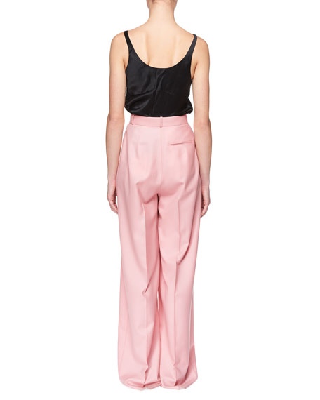 Elin High-Waist Wide-Leg Wool Pants