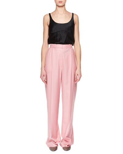 Elin High-Waist Wide-Leg Wool Pants