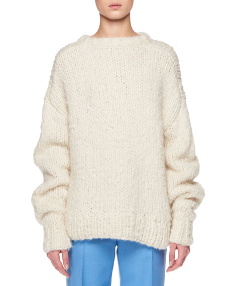 THE ROW Ophelia Crewneck Long-Sleeve Cashmere Sweater