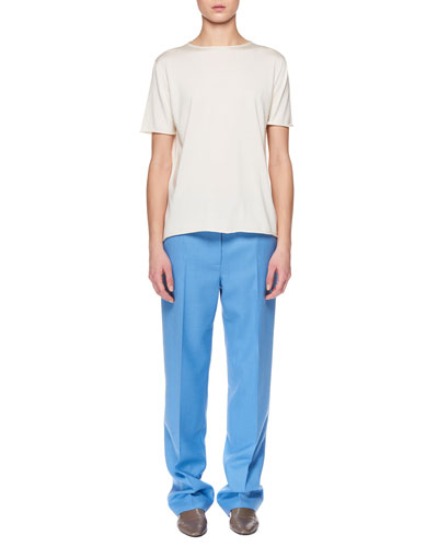 Laneige Crewneck Short-Sleeve Shappe Silk T-Shirt