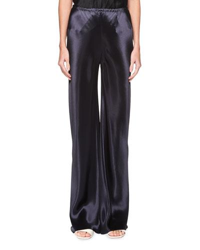 Gala Straight-Leg Satin Pants
