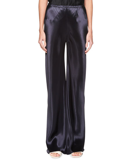 Gala Straight-Leg Satin Pants