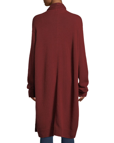 Elado Long Cashmere-Silk Open-Front Cardigan