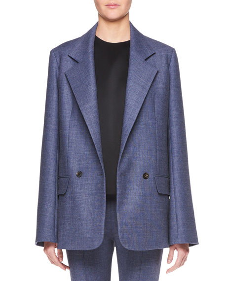 Spreyley Double-Breasted Wool-Blend Jacket