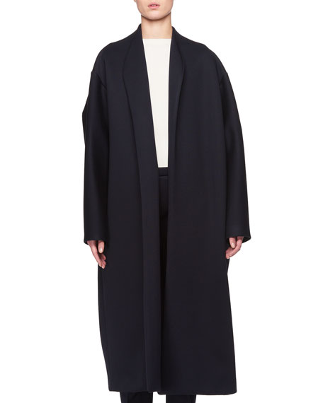 Maiph Shawl-Collar Open-Front Long Coat