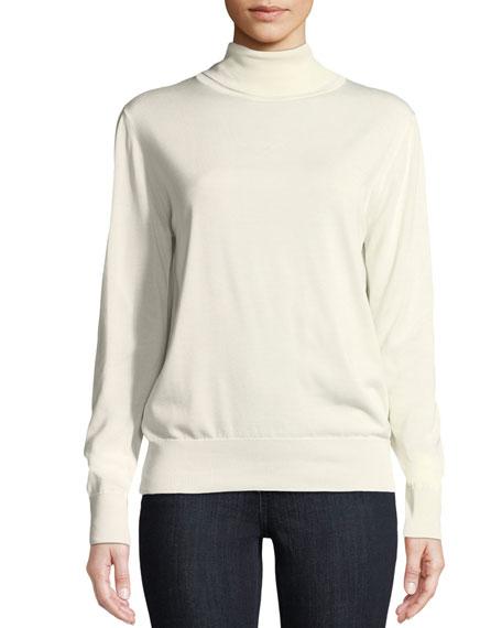 Donnie Turtleneck Long-Sleeve Cashmere-Blend Top