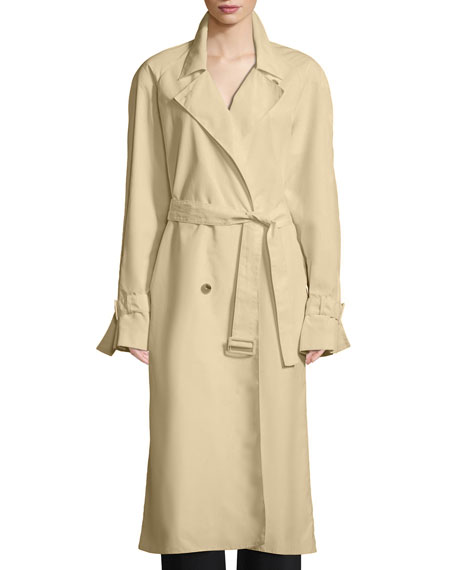 Nueta Double-Breasted Belted Trench Coat