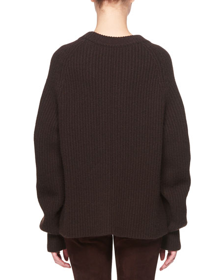 Connor Crewneck Long-Sleeve Cashmere Sweater