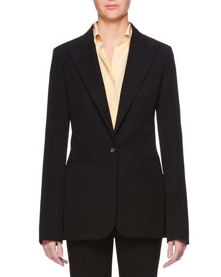 THE ROW Limay Single-Breasted One-Button Crepe Jacket