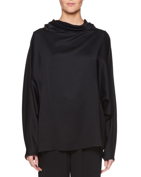 Iona Long-Sleeve Silk Top