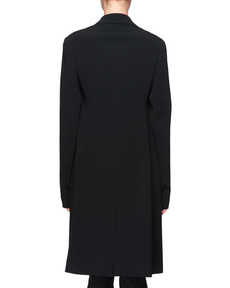 Pryor One-Button Crepe Coat