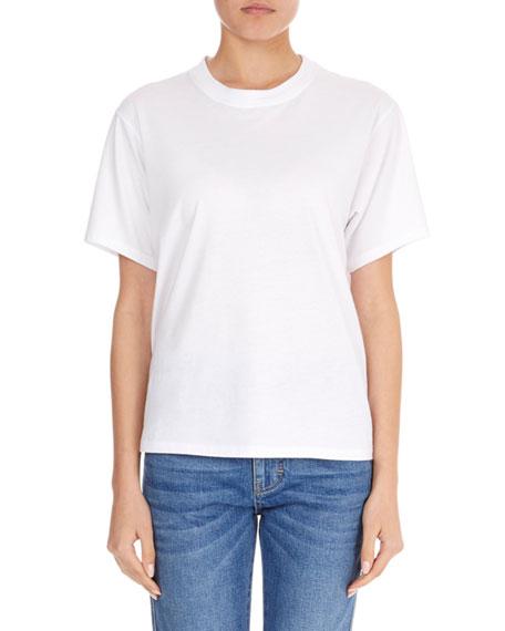 Crewneck Short-Sleeve Classic Cotton T-Shirt