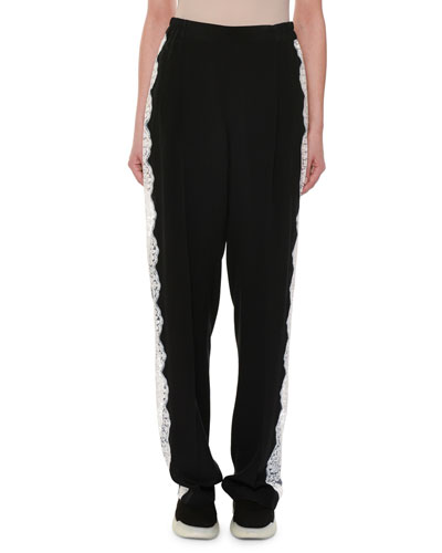 Lace Racer-Stripe Trousers