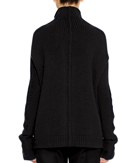 Button-Front 3-Gauge Cashmere Cardigan Sweater