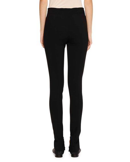Flat-Fly Legging Pants with Side-Zip Hem