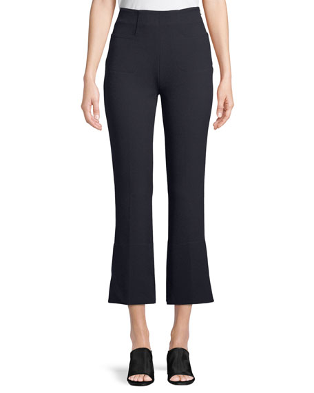 Roland Mouret Goswell High-Waist Cropped Pants
