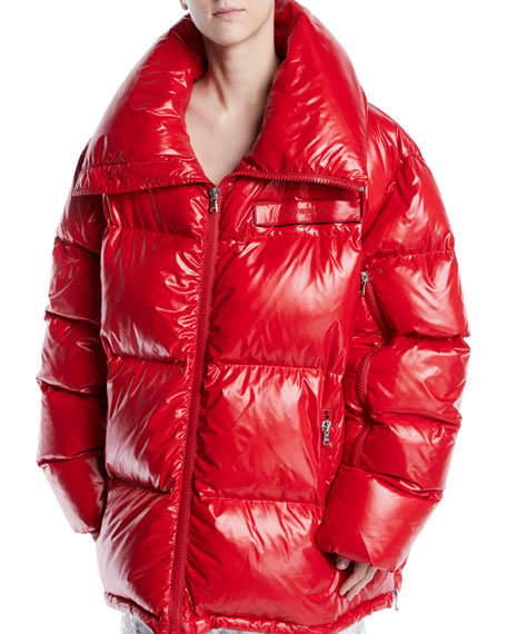 Zip-Front Quilted Puffer Jacket