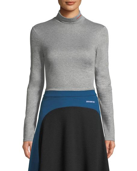 Long-Sleeve Turtleneck Sweater w/ 205 W 38