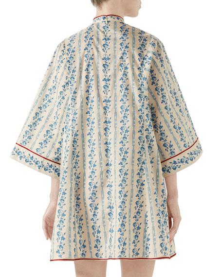 Gucci Buds Sequence Cotton Poplin Dress
