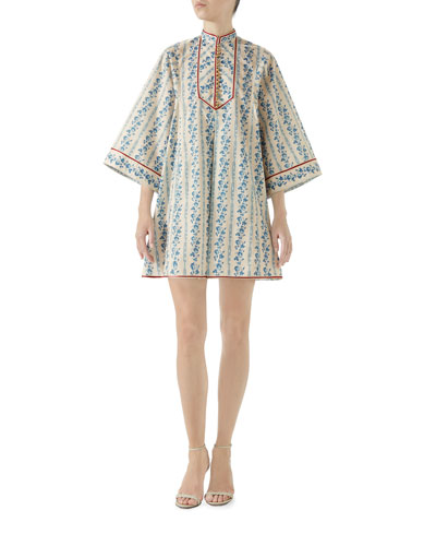 Gucci Buds Sequence Cotton Poplin Dress