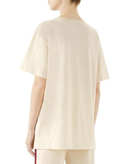 Short-Sleeve Guccy-Logo Maison De L'Amour T-Shirt