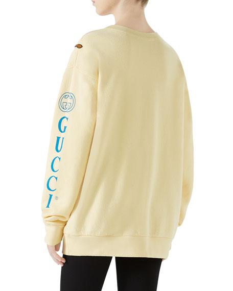 Logo & Panther Long-Sleeve Sweatshirt