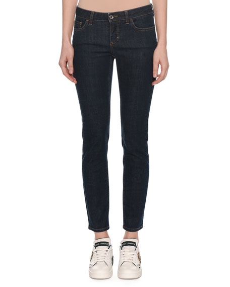Pretty Fit Five-Pocket Skinny-Leg Jeans w/ Queen Back Pocket