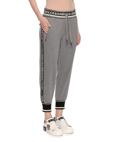 Pull-On Logo Crop Jogger Sweatpants