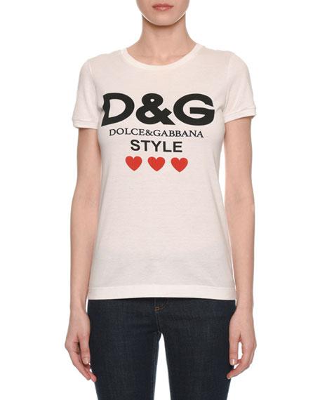 Dolce & Gabbana DG Style Short-Sleeve Crewneck T-Shirt