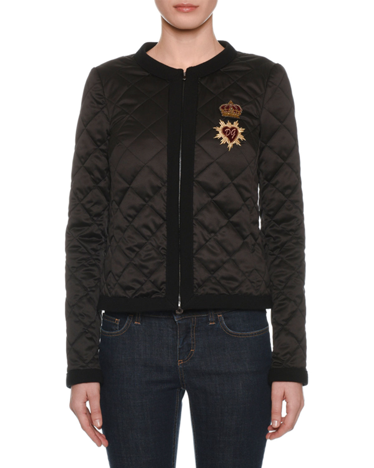 279dd4f2fed Dolce   Gabbana Zip-Front Quilted Jacket