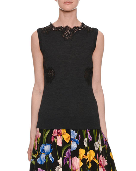 Dolce & Gabbana Sleeveless Knit Shell Top w/