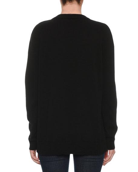 L'Amore e Bellezza Intarsia-Knit Cashmere Pullover Sweater