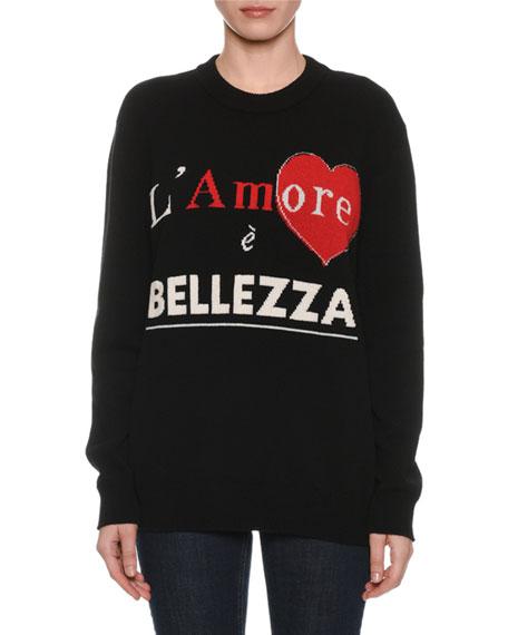 Dolce & Gabbana L'Amore e Bellezza Intarsia-Knit Cashmere