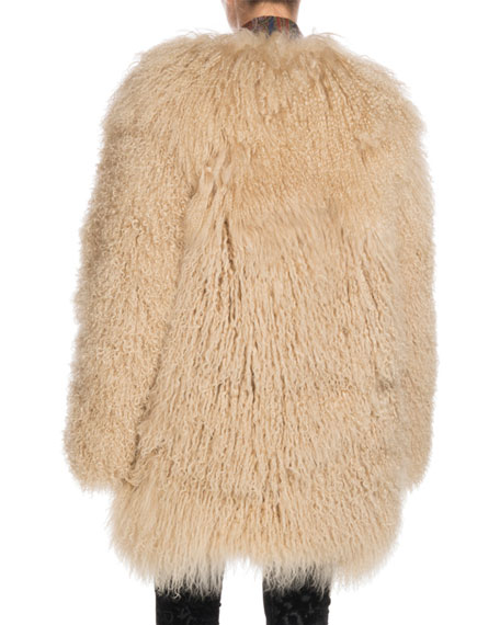 Long Hair Mongolian Goat 3/4-Length Coat