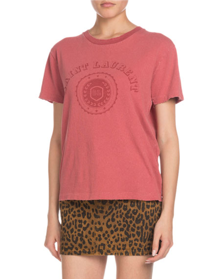 University-Medallion Short-Sleeve Cotton Graphic-Print T-Shirt