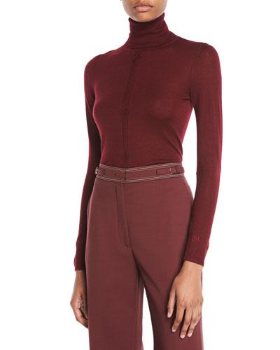2d72f253e99e3f Gabriela Hearst Turtleneck Long-Sleeve Cashmere-Silk Top