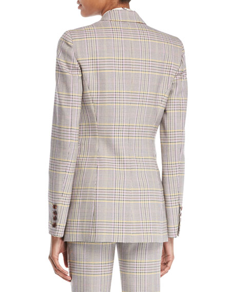 Sophie Single-Breasted Plaid Wool Sportswear Blazer