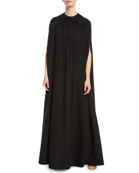 Valentino V-Neck Silk Cady Couture Slip Evening Gown