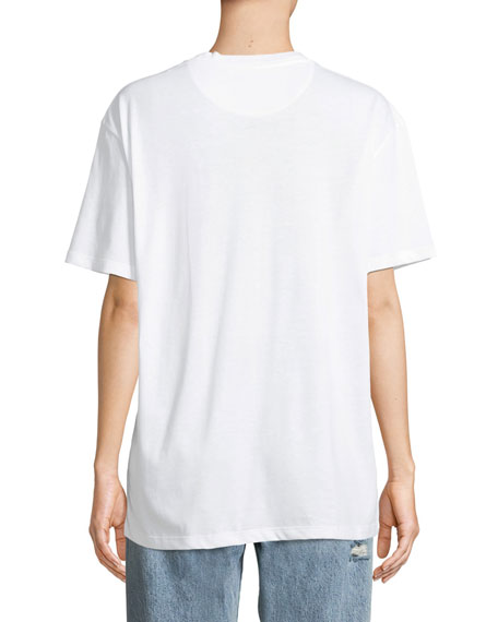 Short-Sleeve VLTN Logo Cotton Jersey T-Shirt