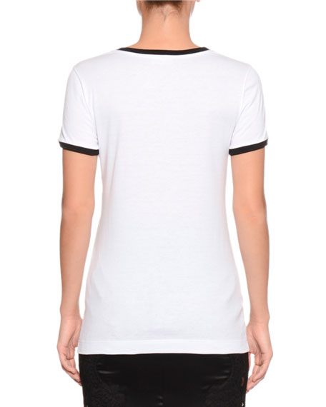 Fashion Devotion Crewneck Short-Sleeve Jersey T-Shirt