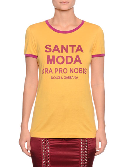Santa Moda Crewneck Short-Sleeve T-Shirt