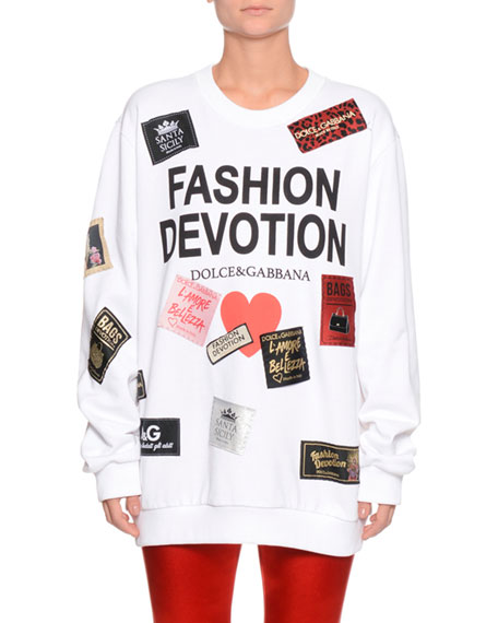 Dolce & Gabbana Fashion Devotion Tag Patchwork Oversized
