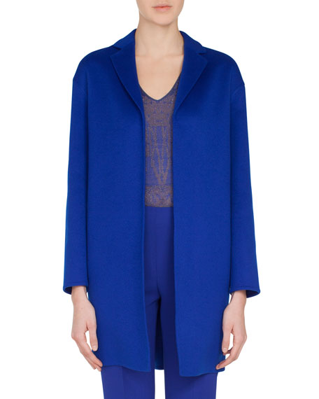 Mae Snap-Closure Cashmere Topper Jacket