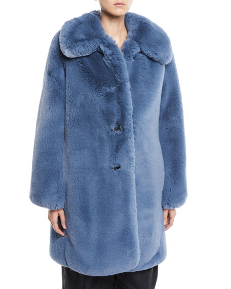 Chubby Plush Coat w/ Collar