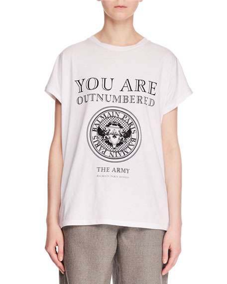 You Are Outnumbered Short-Sleeve Graphic-Print Jersey T-Shirt